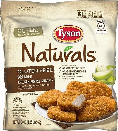Tyson Naturals Gluten Free Breaded Chicken Breast Nuggets, 20 oz  (Frozen)