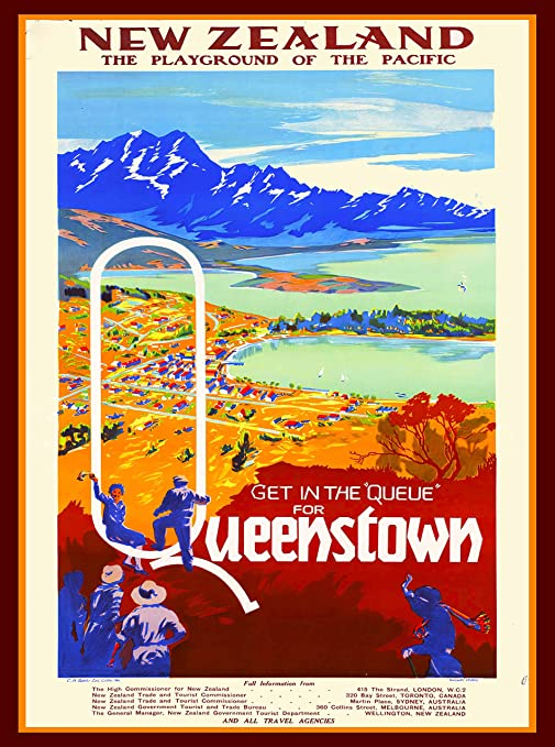 Amazon com: A SLICE IN TIME Queenstown New Zealand Vintage