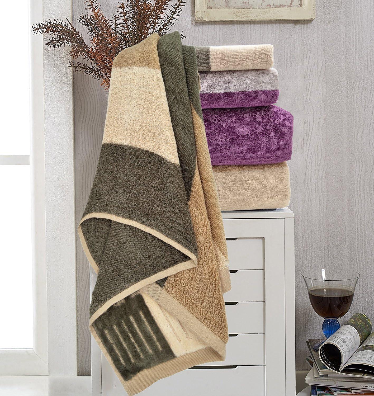 Hotel Spa Badezimmer Towels Premium Bad Handtuch-Set 100/% Baumwolle Super Weich Hoch Absorbierend Badet/ücher H/ändehandtuch 3-teilig Braun