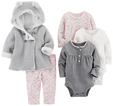 bb5337a8d Carter s Baby Girls  5-Piece Playwear Set