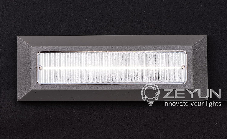 couloir applique murale pour int/érieur et ext/érieur 1,6 W 73104-4 ZEYUN 4 x LED escalier carr/é l/éger paquet de 4 blanc chaud 3000K