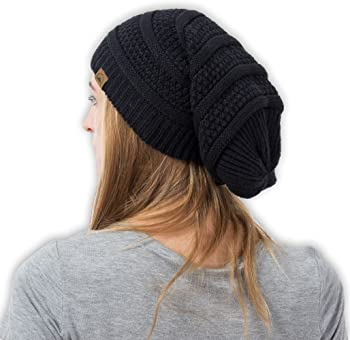 Tough Headwear Slouchy Cable Knit Beanie
