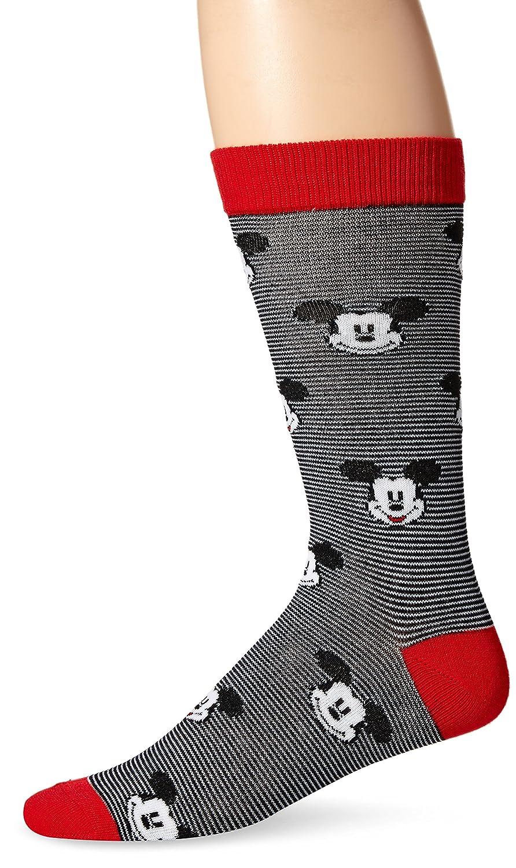 Disney Mens Mickey Mouse Crew Sock Single