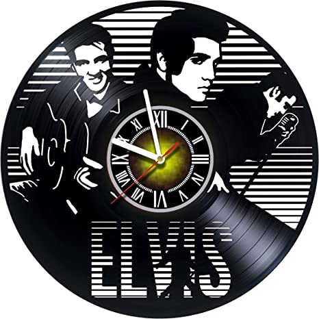 Amazon Com Toffy Workshop Elvis Presley Icredible Vinyl Wall Clock Get Unique Living Room Wall Decor Gift Ideas For Boys And Girls Friends Men And Women Legendary King Unique
