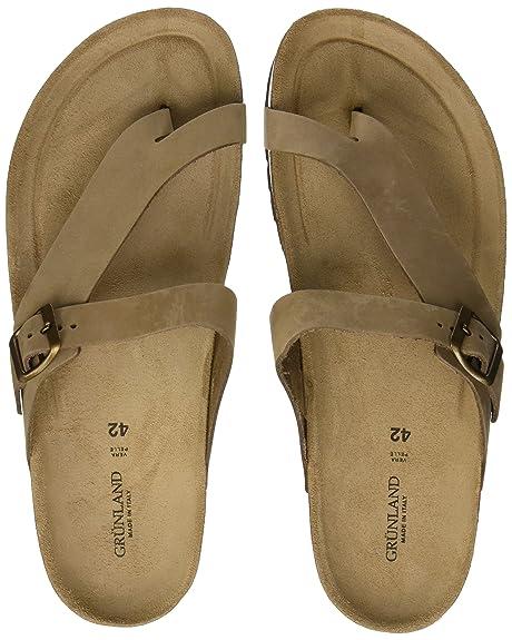 GRUNLAND Hola, Zapatos de Playa y Piscina para Mujer, Gris (Taupe Taup), 41 EU