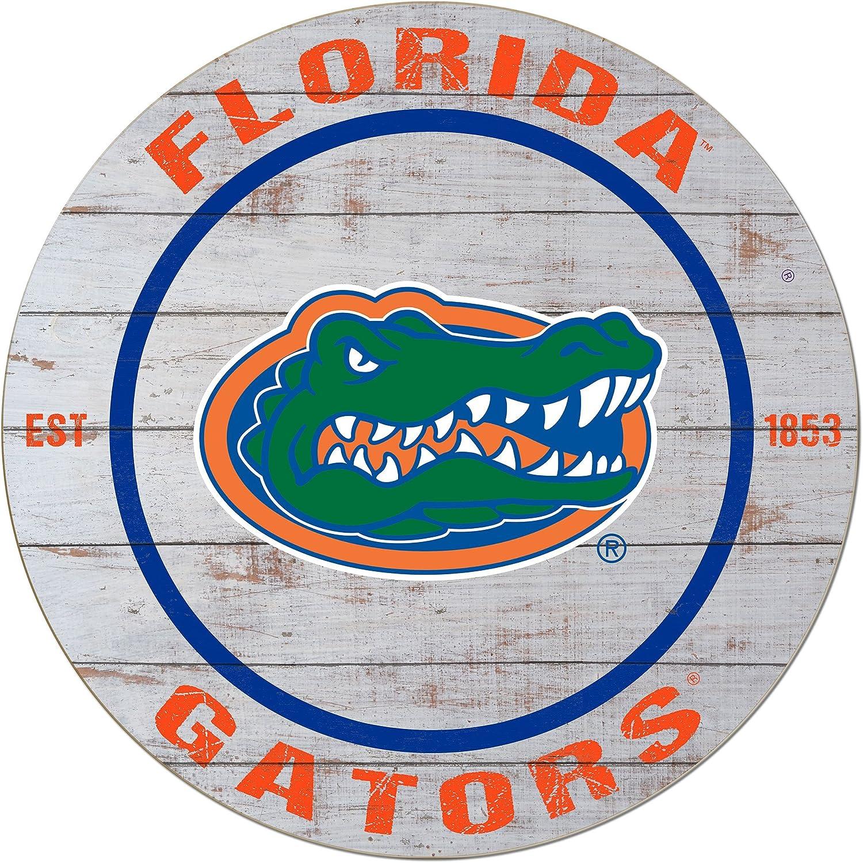 "KH Sports Fan 20""x20"" Florida Gators Classic Weathered Circle Wall Sign"