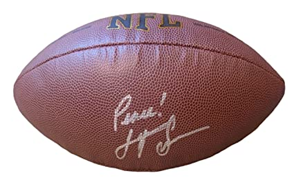 055ee59d5 Pittsburgh Steelers Super Bowl X MVP Lynn Swann Autographed Hand Signed NFL  Wilson Football with Proof