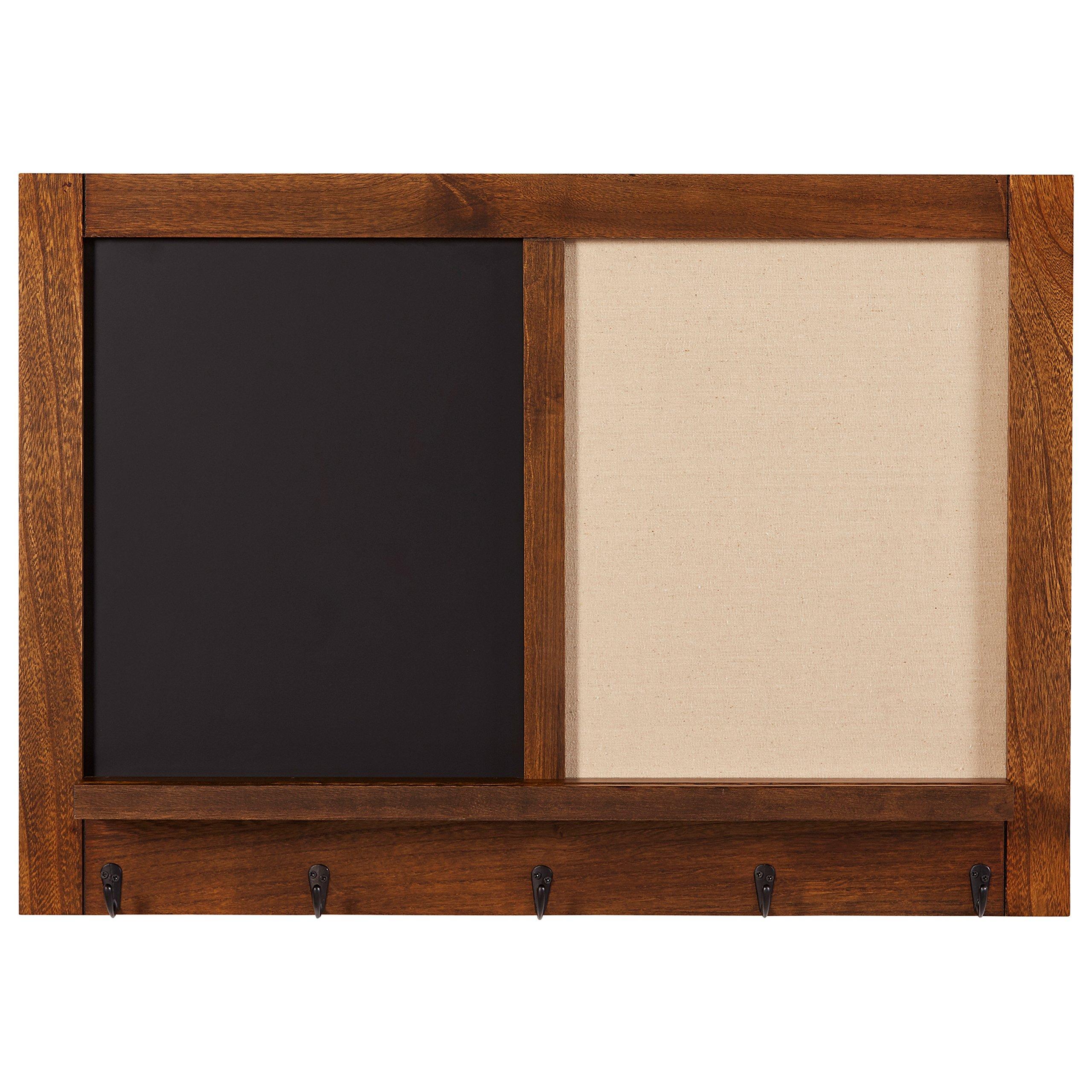 Stone & Beam Modern Wood Message Board, 30''H, Walnut And Black by Stone & Beam