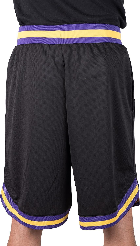 ULIIM Haute-Qualit/é Lakers Shorts Los Angeles Lakers Retro Swingman Shorts de Sport Homme M-XXL