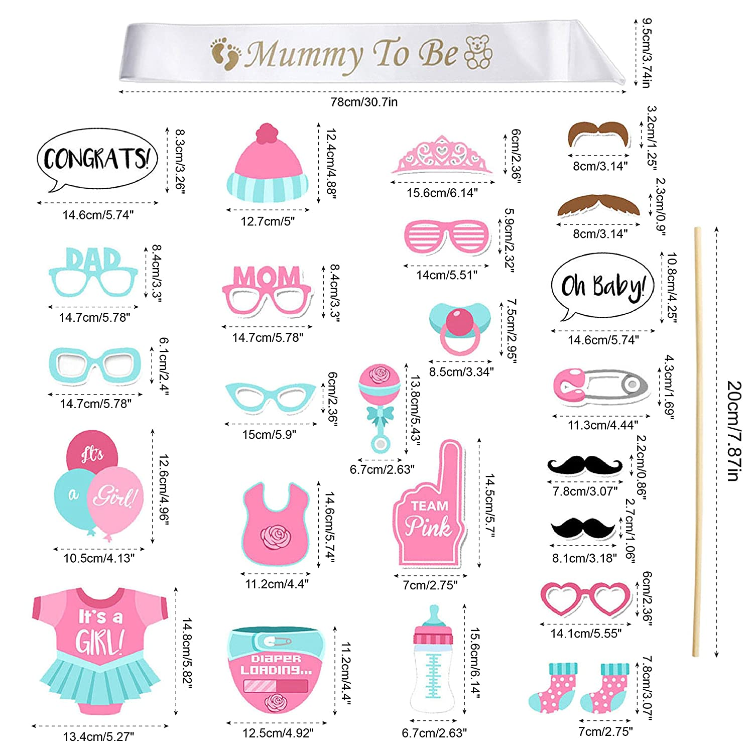 iLoveCos Babydusche Mummy To Be Satin Schärpe Babyparty Baby Shower ...