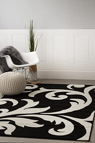 Super Area Rugs Modern Floral Damask Rug