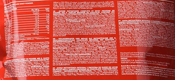 Prozis Oatmeal, Chocolate Brownie - 400 gr: Amazon.es: Salud y cuidado personal
