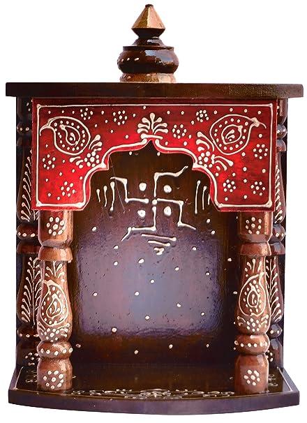 Com Handicraft Hindu Religious Colorful Wood Temple