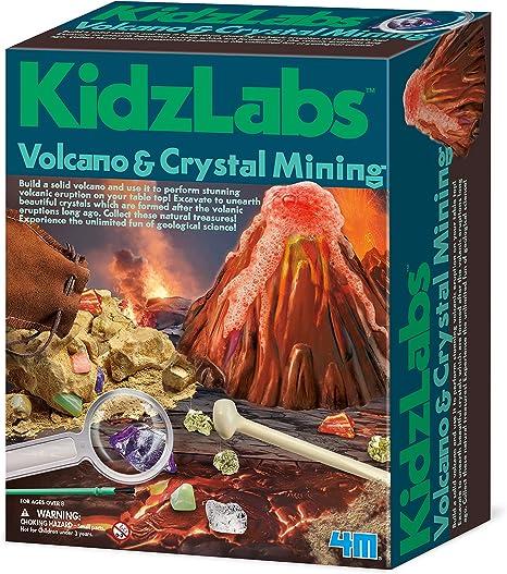 4 M volcán y Cristal Extracción Kit de Ciencia: Amazon.es: Juguetes y juegos