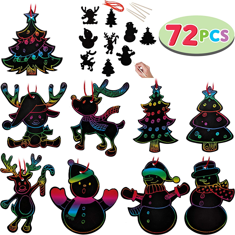 - Amazon.com: JOYIN Rainbow Color Scratch Christmas Ornaments (5