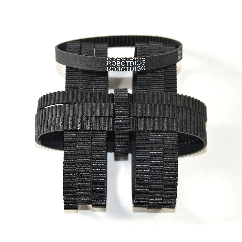 RobotDigg 170-2GT-6 Endless GT2 Belt 170mm Length 85 Teeth 2GT Synchronous Belt 2mm Pitch 6mm Width GT2 Closed Loop Timing Belt Pack of 10