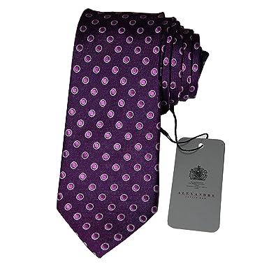 Alexandre Savile Row para hombre 100% Seda Slim cuello corbata ...
