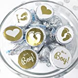 "100- .75"" Baby Shower Stickers, It's a Boy"