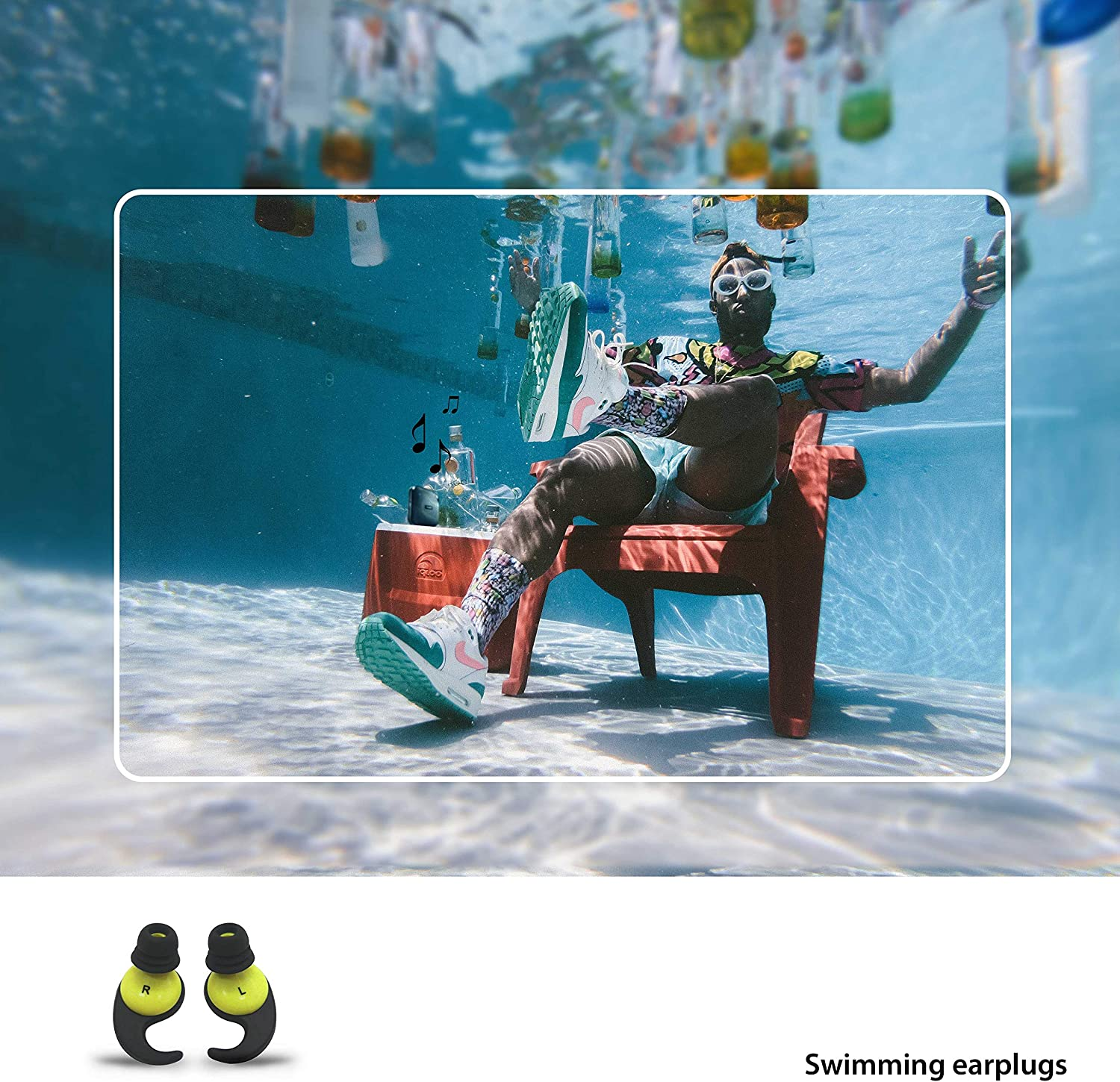 Surfing Oken Swimming Earplugs Audible Ear Plugs for Swimming Diving and Water Sports