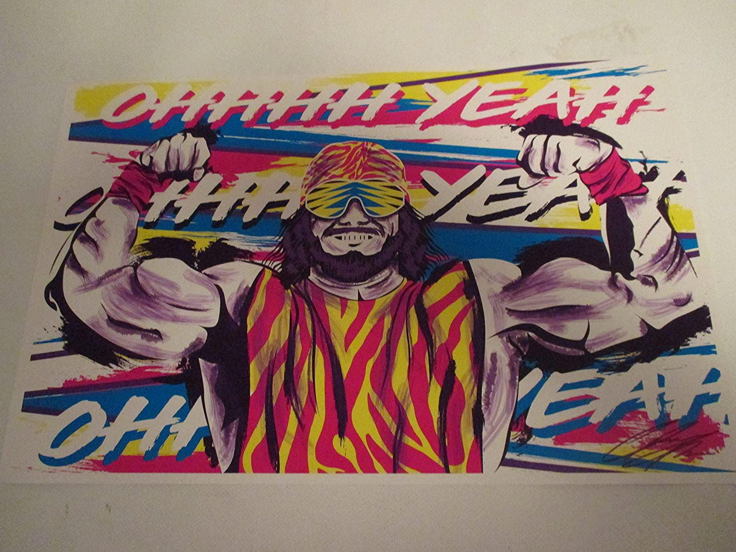 WWE RANDY THE MACHO MAN 11' By 17' Limited Edition Print Signed By Chris Huffman, W/coa WWE RANDY THE MACHO MAN 11 By 17 Limited Edition Print Signed By Chris Huffman