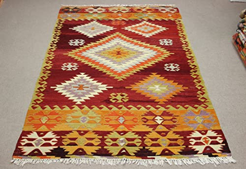 Bohemian Rug Turkish Kilim rug turkish Kilim Small Kilim Rug handwoven rugs vintage rug vintage kilim rug Rugs 3x5 Turkish Rug