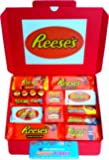 Reese's Large American Candy Hamper 32cm x 23cm | Peanut Butter Chocolate Selection | Big Cup Fast Break Crispy Crunchy White Cups Sticks Nut Bar | 15 Items | Hamper exclusive to CANDYPLANET