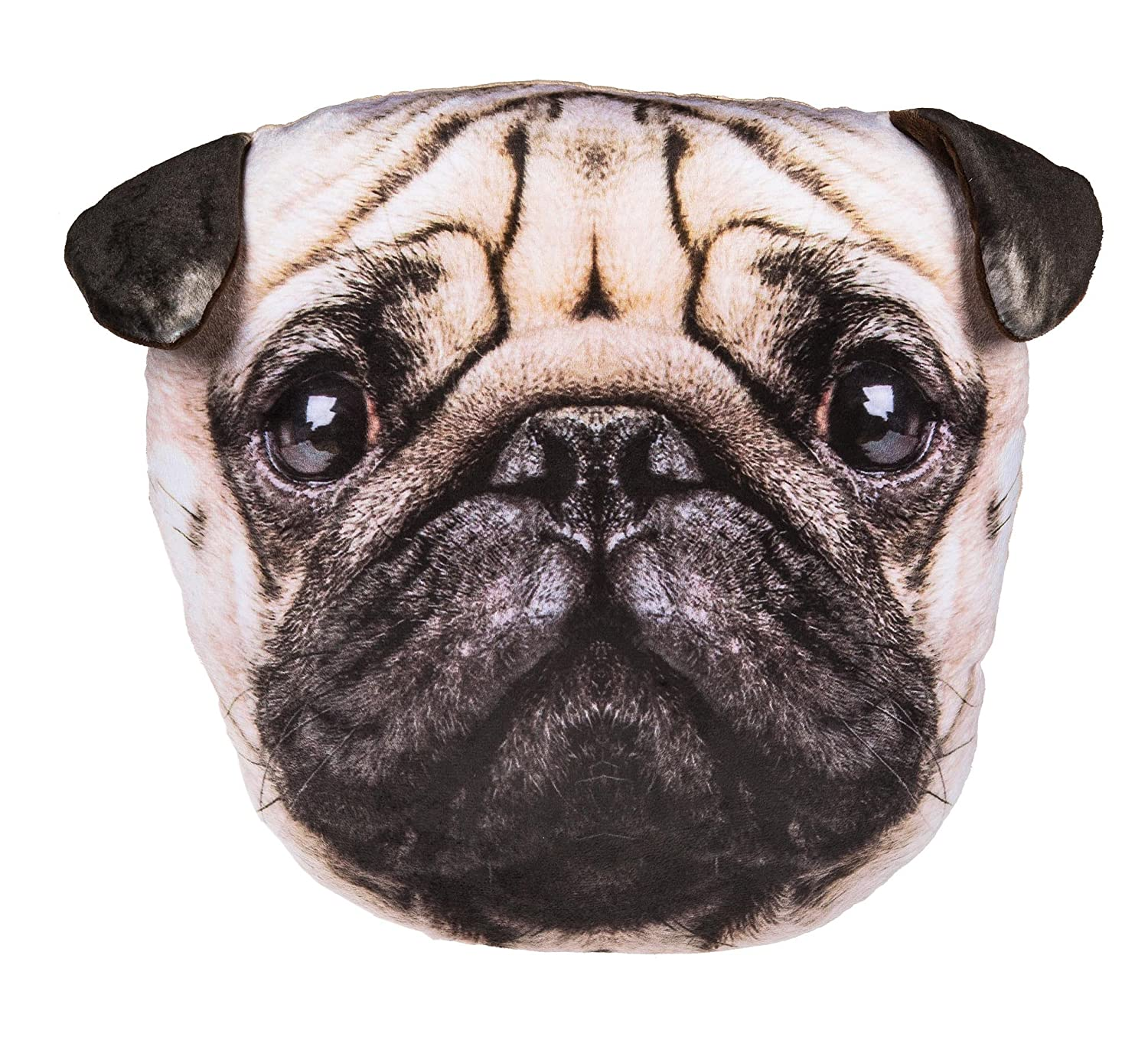 Adorably Cute Pug Dog Decoration Cushion - Number One Girl Girls Boy Boys Children Kids Child Great Gift Present Idea for Birthdays Christmas Xmas Stocking Fillers Top Ups Treats Rewards Pocket Money Easter Fun Toys & Games - One Supplied Kenzies Gifts