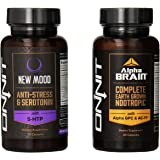 Onnit Alpha Brain and New Mood Booster Combo Pack, 2 Count