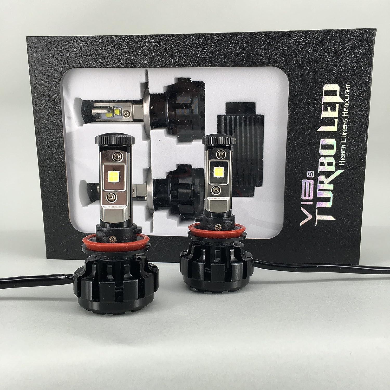 Amazon.com: All Seasons LED V18 Cree XHP-50 LED Headlight Kit 80W & 9600Lm/Set, Xenon White 6000K (H11/H9/H8): Automotive