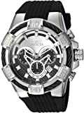 Invicta Men's 'Bolt' Quartz Stainless Steel and Silicone Casual Watch, Color:Black (Model: 24691)