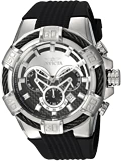 15406b8c2 Invicta Men's Bolt Stainless Steel Quartz Watch with Silicone Strap, Black,  32 (Model