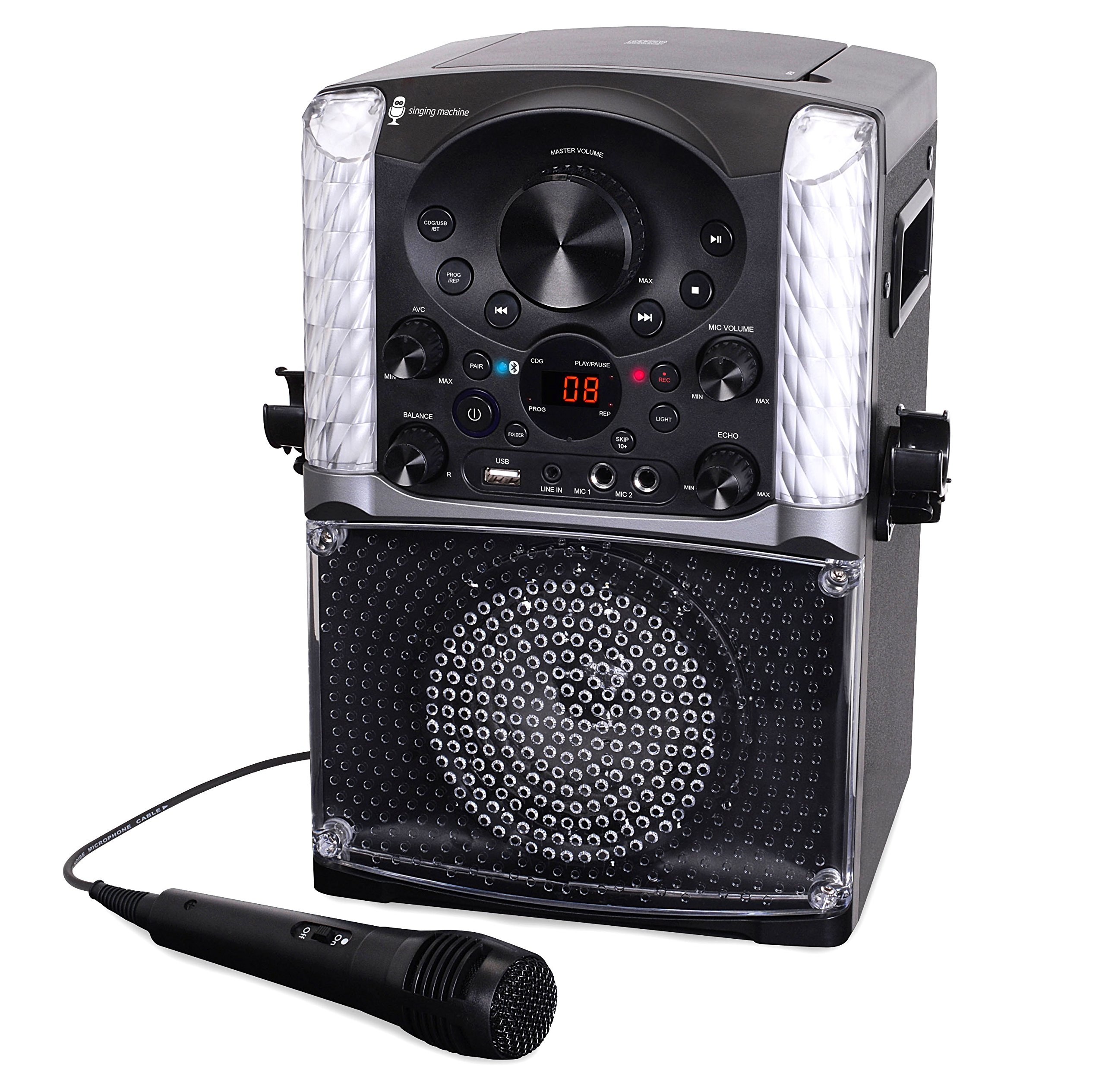 Singing Machine SML625BTBK Bluetooth CD+G Karaoke System Black by Singing Machine (Image #6)