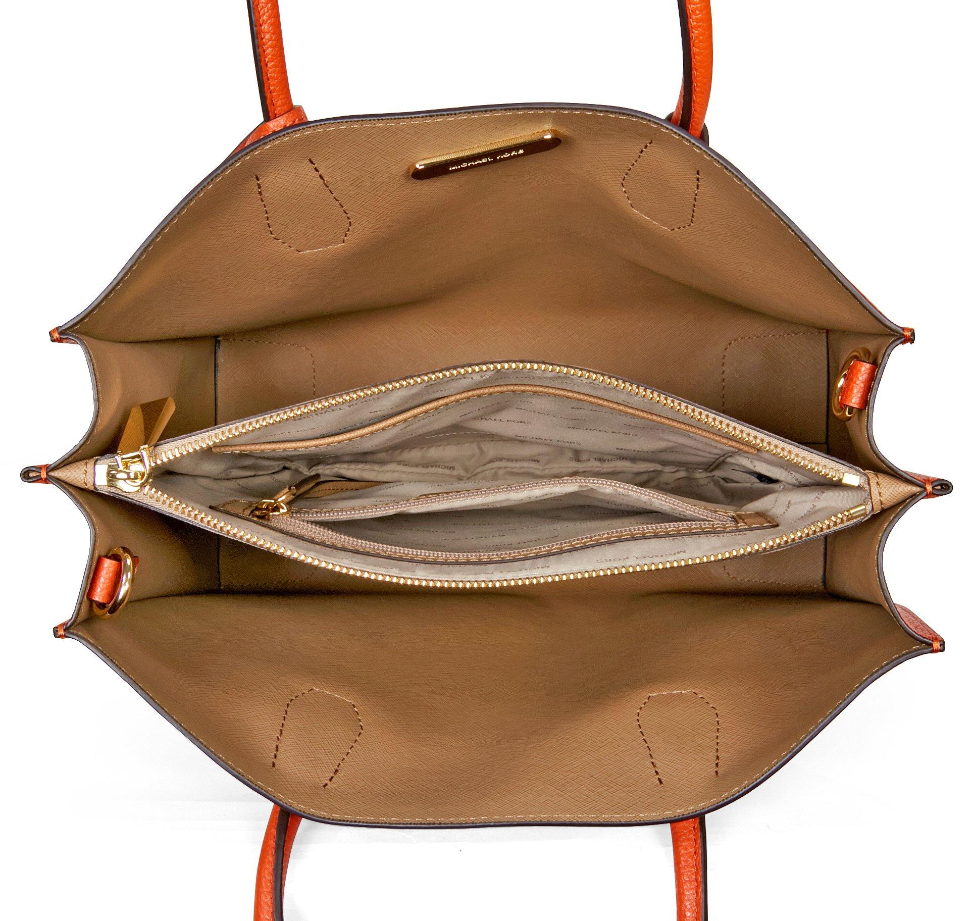 Michael Kors Women's Mercer Large Leather Tote Bag, Orange, OS