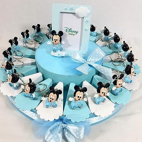 Estructura porta bomboneras con llavero Mickey Mouse bebé + ...