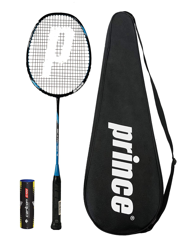 Prince Pro Nano Ti 75 Graphite Badmintonschlager Series 6 Federballe Verschiedene Optionen