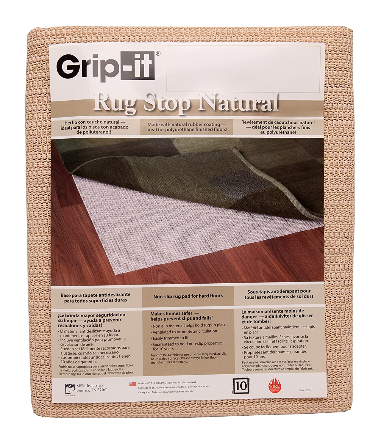 Amazon.com: Grip It Non Slip Rug Pad For Rugs On Hard Surface Floors, 9 By  12 Feet: Kitchen U0026 Dining