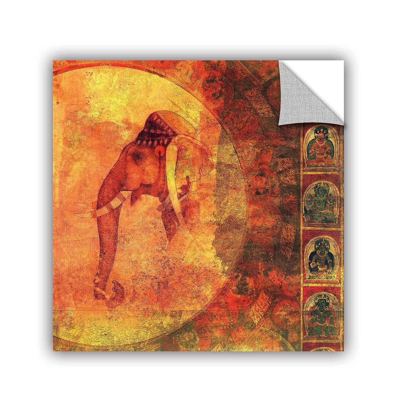 18 x 18 Multicolor ArtWall Elana Rays Buddhist Elephant Appealz Removable Graphic Wall Art