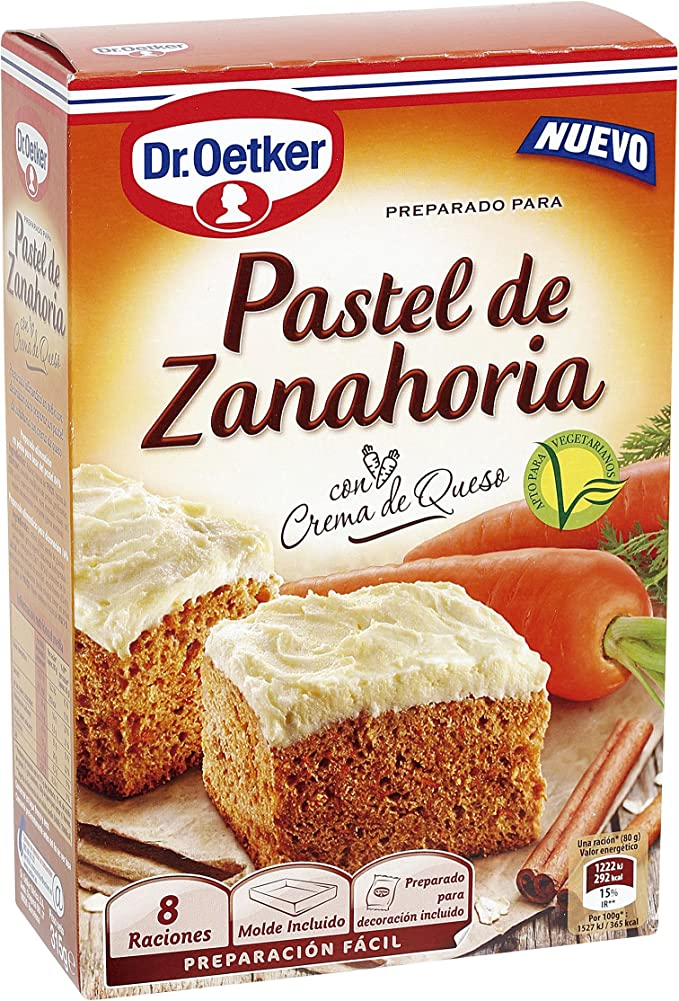Pastel De Zanahoria Dr Oetker Amazon Es Alimentacion Y Bebidas Este coliflor gratinado con zanahoria y cheddar puede parecer más indulgente de lo que realmente es, no temas contenido mostrar. pastel de zanahoria dr oetker