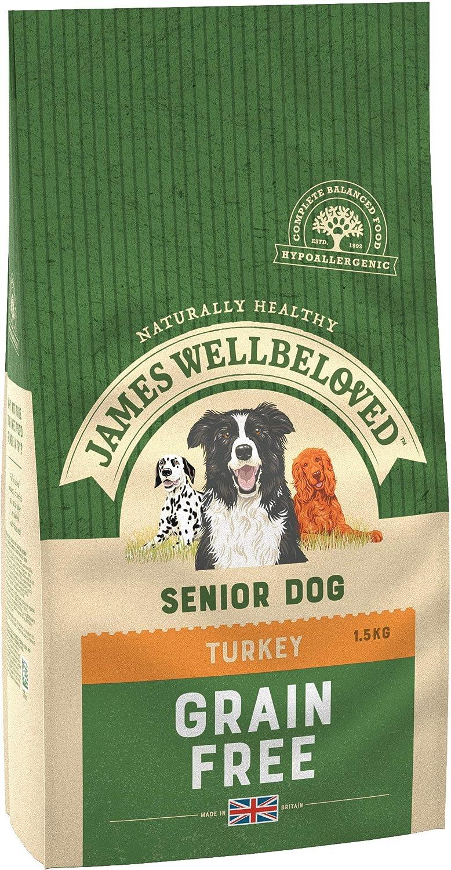 James Wellbeloved Alimento seco Completo para Perros Adultos Adultos Pavo y Verduras, 3 Libras