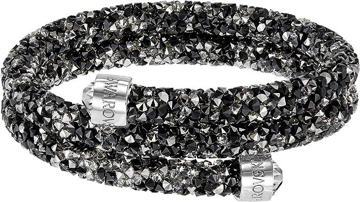 Swarovski Dark Crystal Double Crystaldust Bangle: Amazon.ca: Jewelry