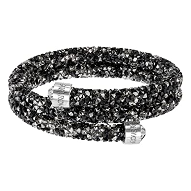 Image Unavailable. Image not available for. Color  Swarovski Dark Crystal  Double Crystaldust Bangle 65ab1bdb0