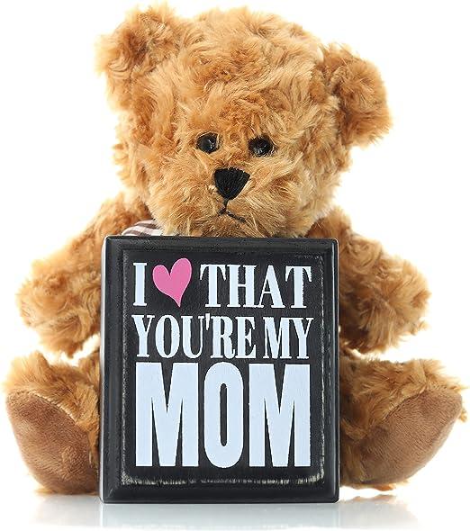 mam/á con peluche Cesta de regalo para el d/ía de la madre o cumplea/ños para el d/ía de la madre para ella