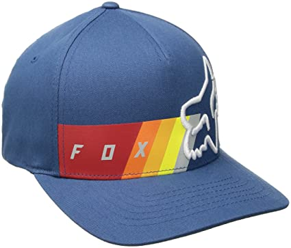 dc99b75079f63 Fox Mens Draftr Flexfit Baseball Cap - Blue -  Amazon.co.uk  Clothing