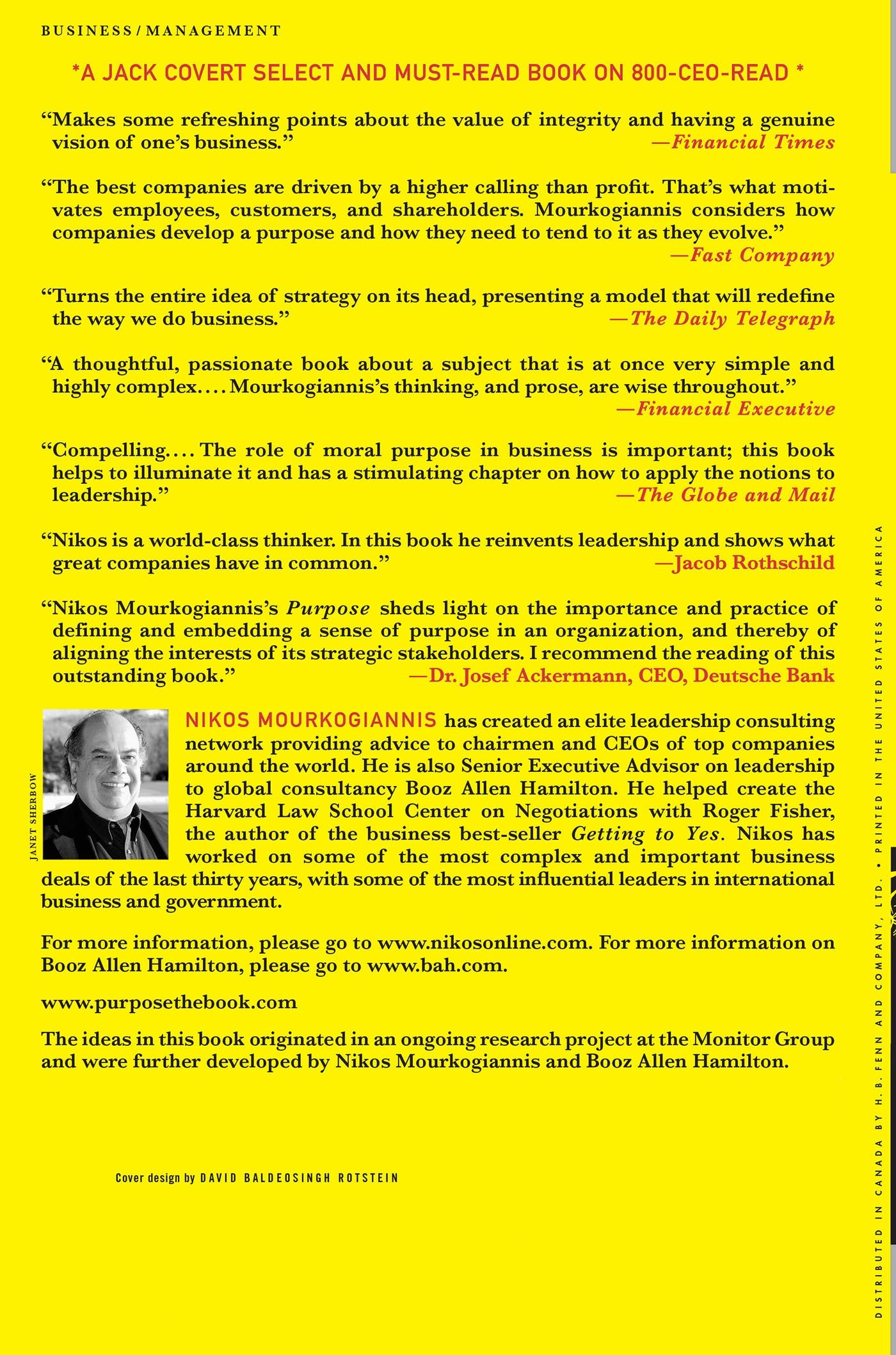 Purpose: The Starting Point Of Greatpanies: Nikos Mourkogiannis, Roger  Fisher: 9780230605305: Amazon: Books
