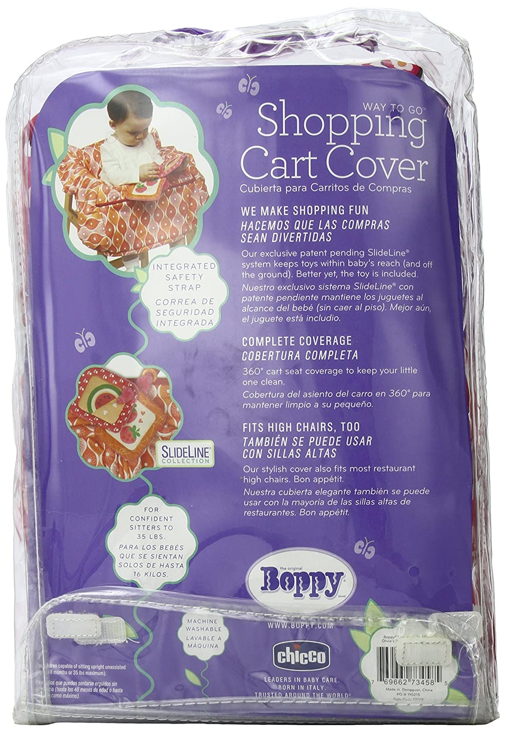 Amazon.com : Boppy Shopping Cart Cover, Olivia (Discontinued by Manufacturer) : Baby Shopping Cart Covers : Baby