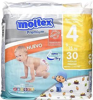 Moltex Premium Panales, Talla 4, 9/15 kg - 30 Panales