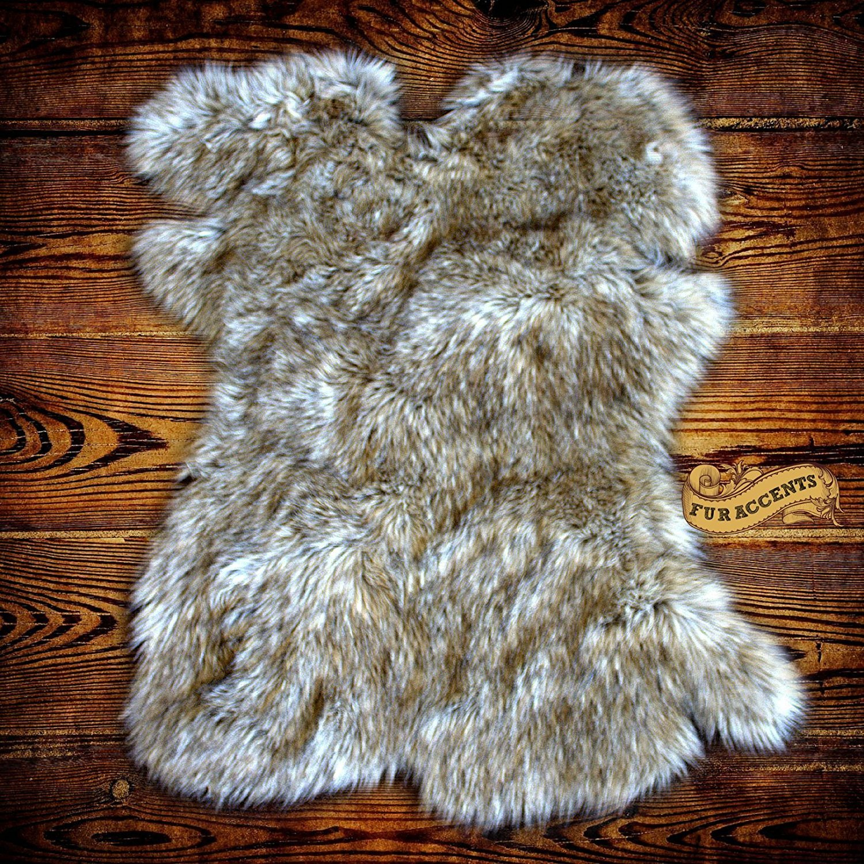 Amazing Amazon.com: Gray Wolf Faux Fur Pelt Rug   Sheepskin Shag   Shaggy Throw    Accent Carpet  Kids Bedroom   Play Rug   Nursery   Crib Mat   Design By Fur  ...