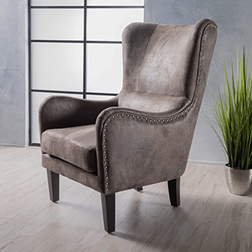 Christopher Knight Home Lorenzo Arm Chair, Greyish Brown