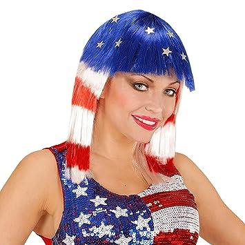 WIDMANN 06747 Peluca Miss America, Multicolor