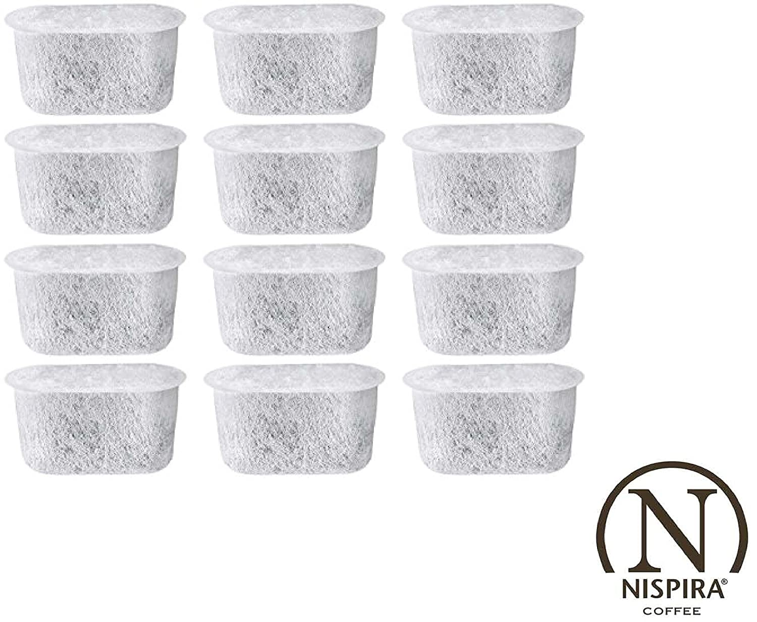Activated Charcoal Water Filters Replacement for Cuisinart Coffee Machine Part DCC-RWF By NISPIRA - Set of 12 filters NISDCC12
